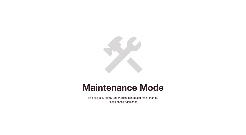 Contoh tampilan maintenance pada situs WordPress