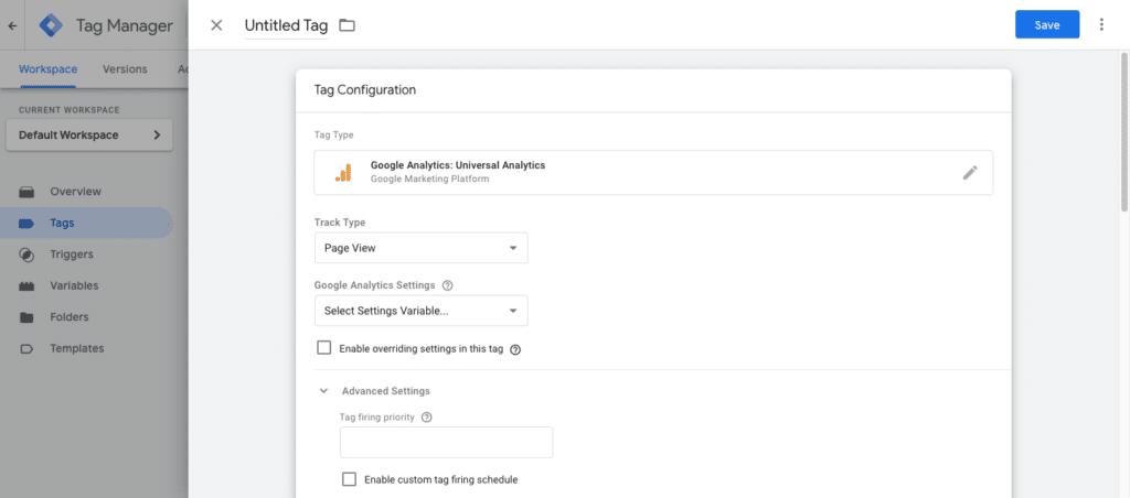Cara memasang tag Google Analytics ke dalam Google Tag Manager.