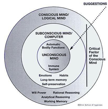 Proses masuknya informasi ke dalam otak manusia Sumber : selfhypnosishypnotherapy.com