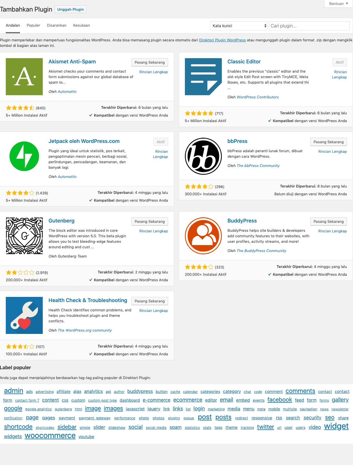 cara install jetpack di wordpress
