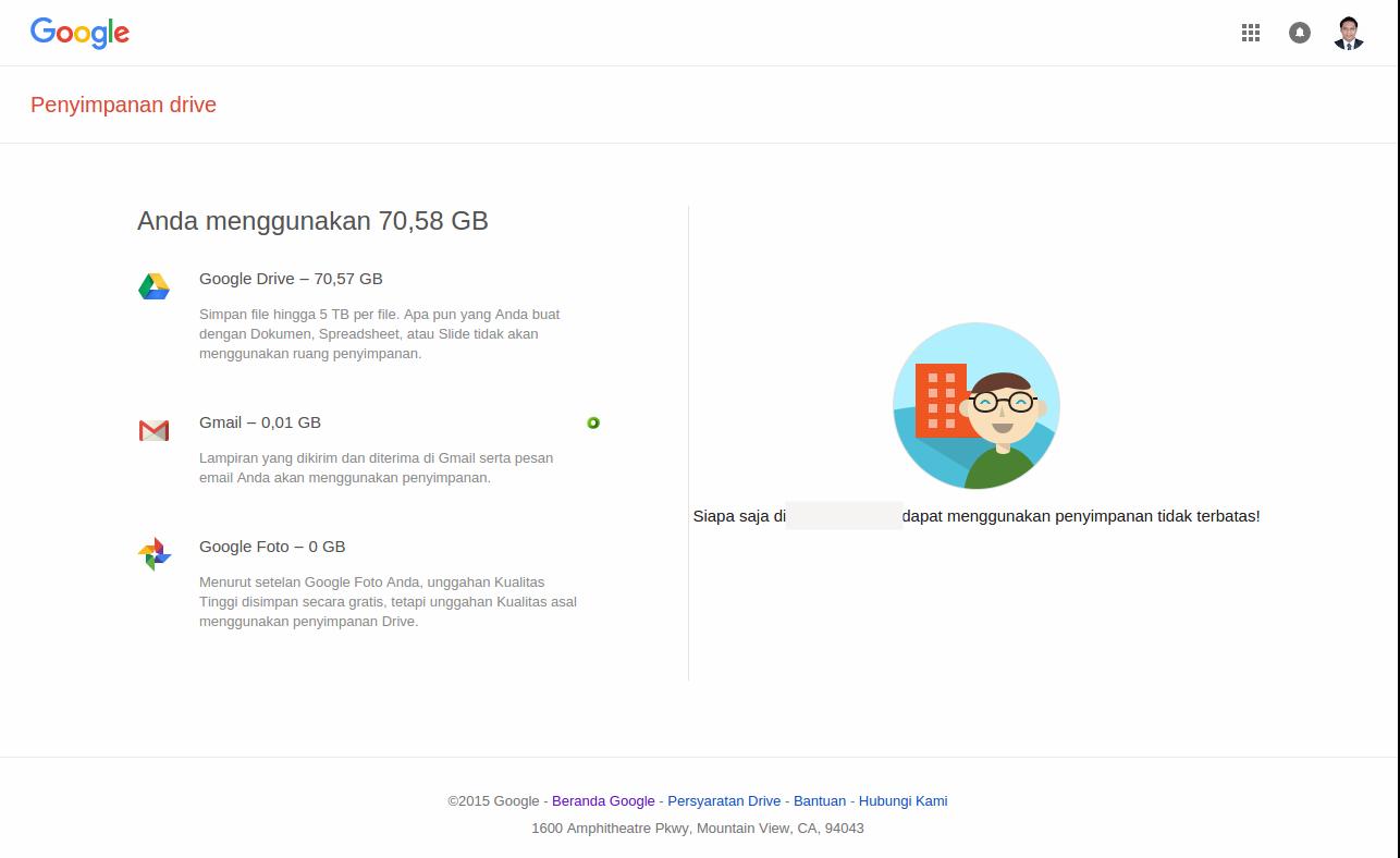 Google Drive yang saya pergunakan