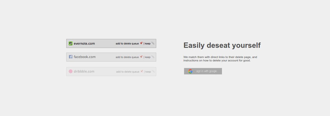 Layanan deseat.me untuk menghapus berbagai akun online sekaligus