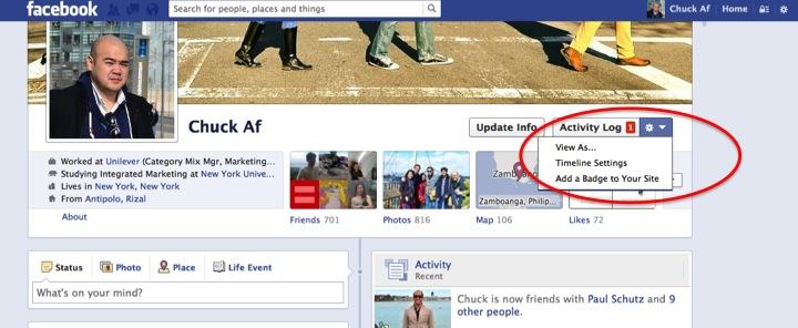 Cara melihat profil facebook sendiri dari sudut pandang facebook orang lain dan publik