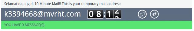 Cara membuat email temporer guna melindungi alamat email pribadi dari serangan email sampah