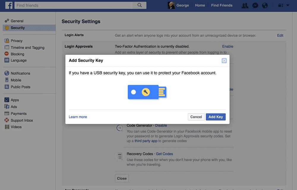 Tips menjaga keamanan akun facebook dengan menggunakan hardware usb Yubikey