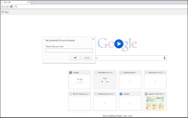 cara mengunci browser chrome dengan kata sandi password