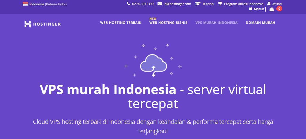Paket VPS murah di Indonesia dari Hostinger