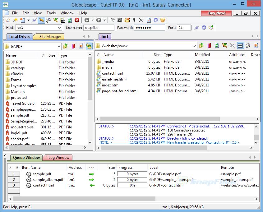 Download aplikasi FTP yang ringan, gunakan saja CuteFTP