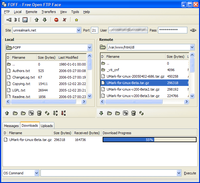Aplikasi FTP untuk Windows yang ringan, simpel, dan gratis yaitu Free Open FTP Face (FOFF)