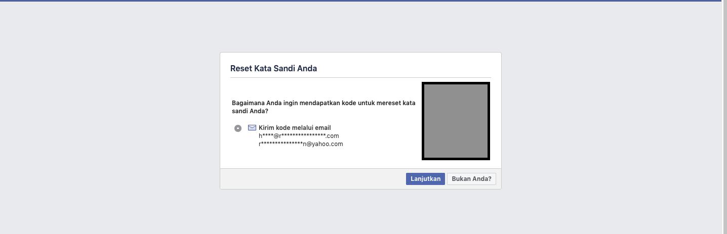 Coba Reset Password Melalui Halaman Reset Password untuk Mengembalikan Akun Facebook Kamu