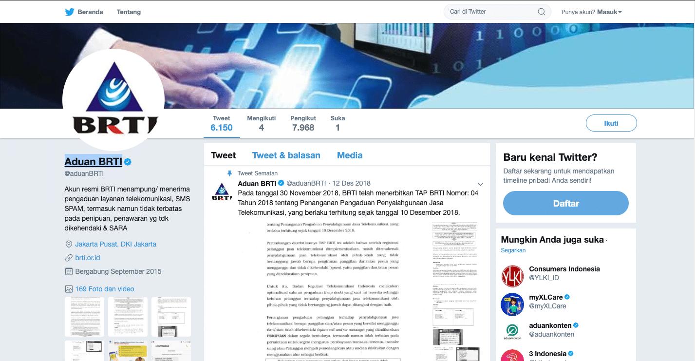 3. Perlu Bantuan Regulator untuk Meminimalisir SMS Spam dan Telepon Penipuan, Segera Tweet ke BRTI