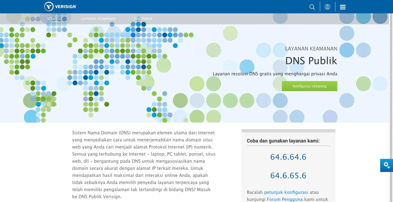 DNS Publik Versign, resolusi DNS gratis yang bisa meningkatkan privasi pengguna internet