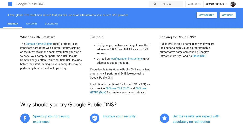 Google Public DNS 8.8.8.8 dan 8.8.4.4