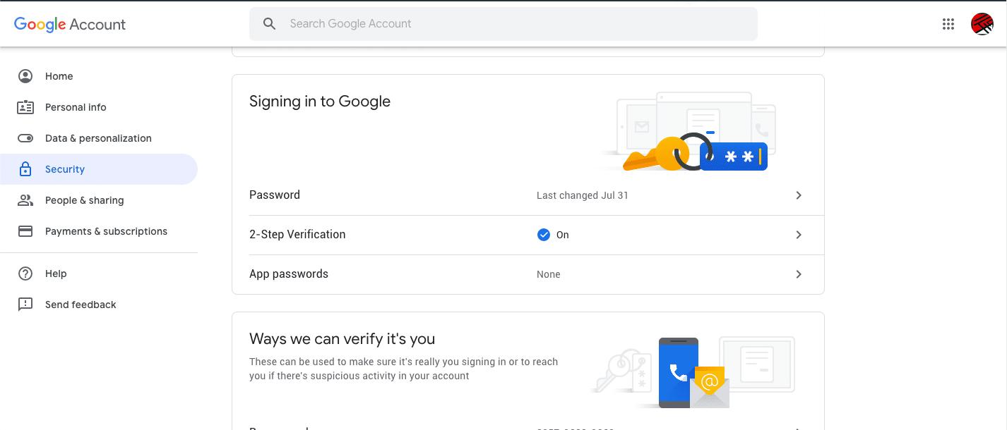 Cara ganti sandi akun google