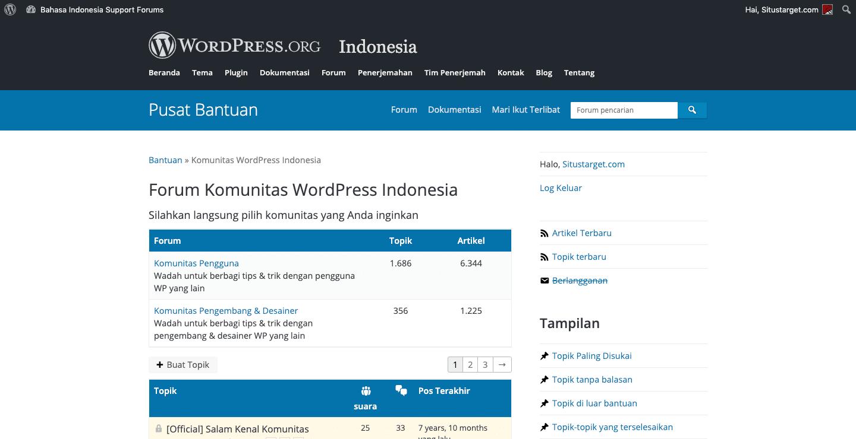 Dukungan dari Komunitas WordPress Indonesia