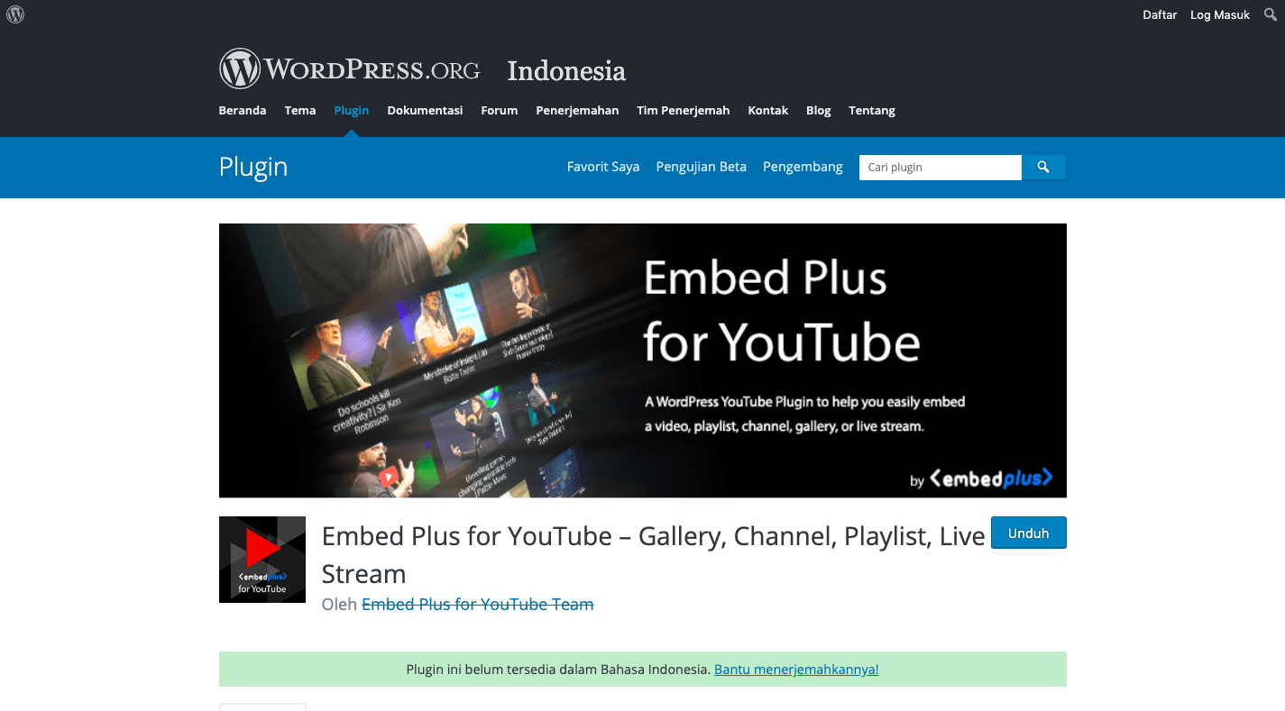 Plugin Embed Plus for YouTube – Gallery, Channel, Playlist, Live Stream