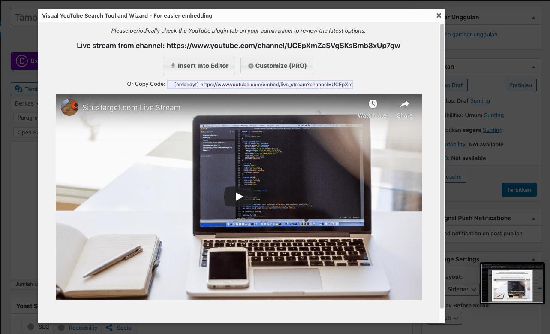 Plugin live streaming untuk Situs WordPress