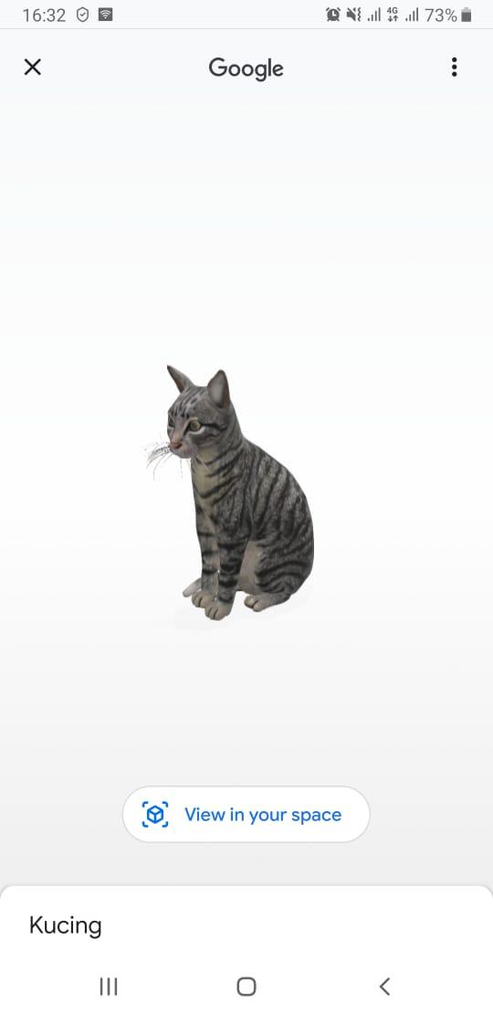Cara Menampilkan Hewan dalam Bentuk 3D melalui mesin pencari Google di iPhone dan iPad