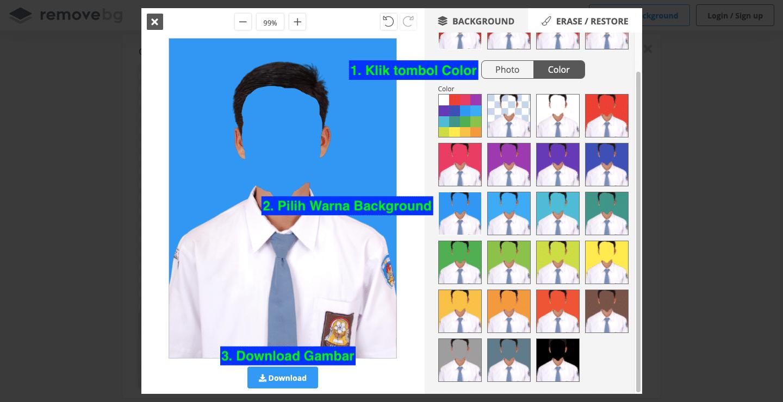 Cara mengubah backgroud foto menggunakan remove.bg