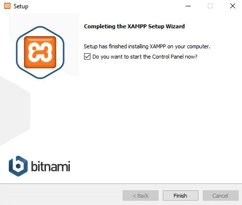 Halaman berhasil saat menginstall Bitnami