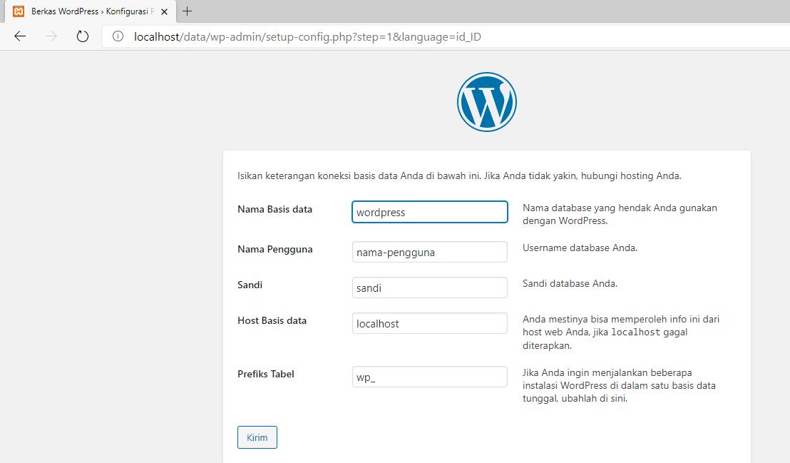 cara menggunakan xampp di Windows 10