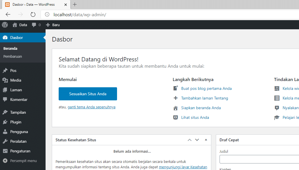 cara menjalankan xampp di Windows 10