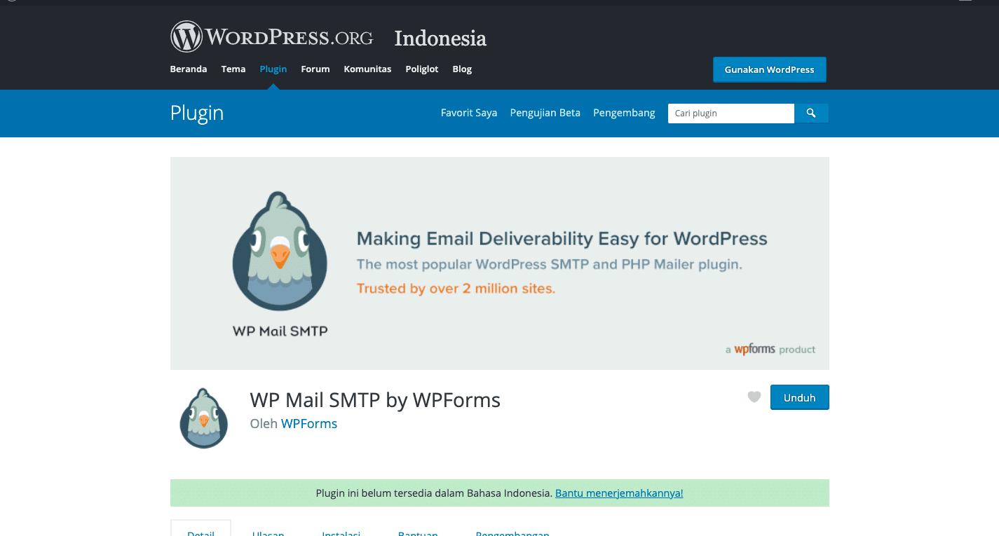 Langkah-langkah pengaturan plugin WP Mail SMTP