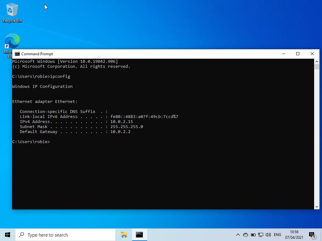 Cara mengecek IP lokal komputer pada Windows 10 untuk sharing data dan file antar Mac dan PC Windows