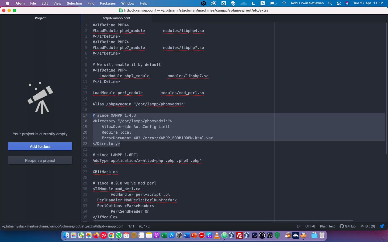 Cara memperbaiki eror New XAMPP security concept pada MacOS