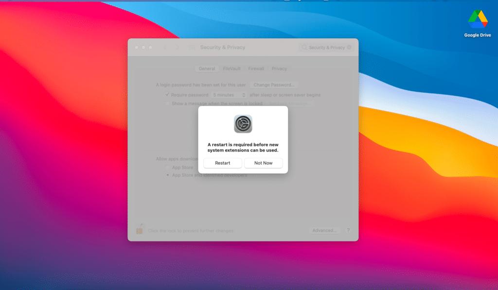 Setelah restart eror VirtualBox Kernel driver not installed (rc=-1908) di MacOS pun akan hilang